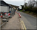 ST3090 : Traffic cones and temporary fencing, Pillmawr Road, Malpas, Newport by Jaggery
