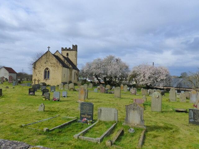 Portskewett church and churchyard, Monmouthshire