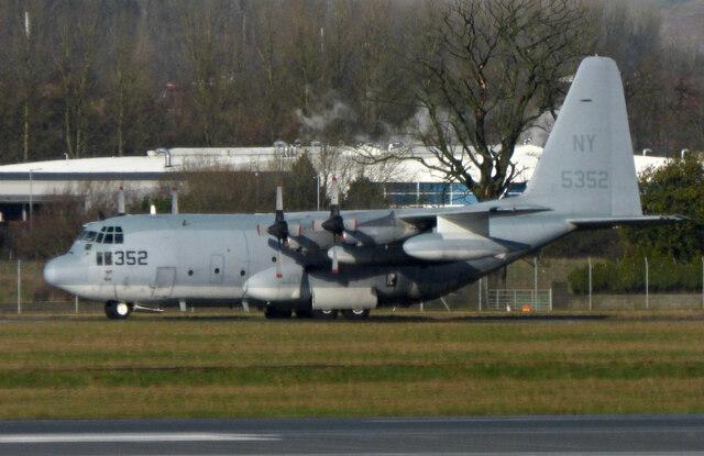 USMC Hercules at Glasgow Airport