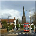 SK6142 : Red bus on Main Road, Gedling by Alan Murray-Rust