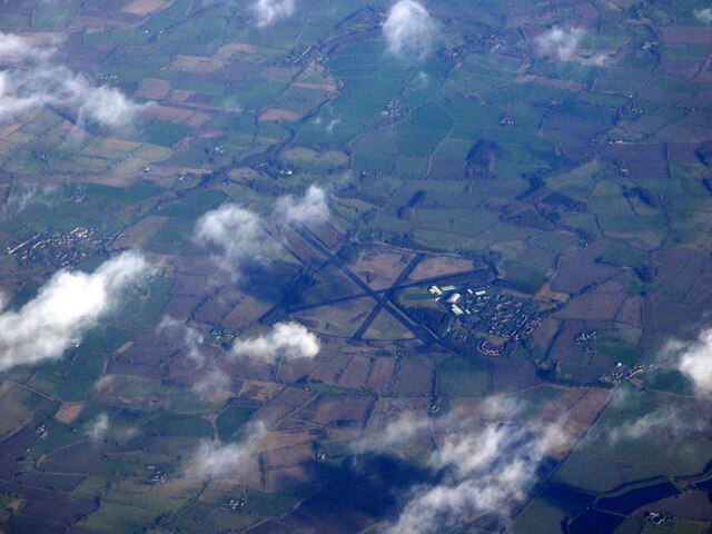 Former RAF Ouston from the air