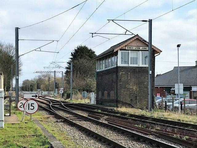 Signal box at King's Lynn Junction