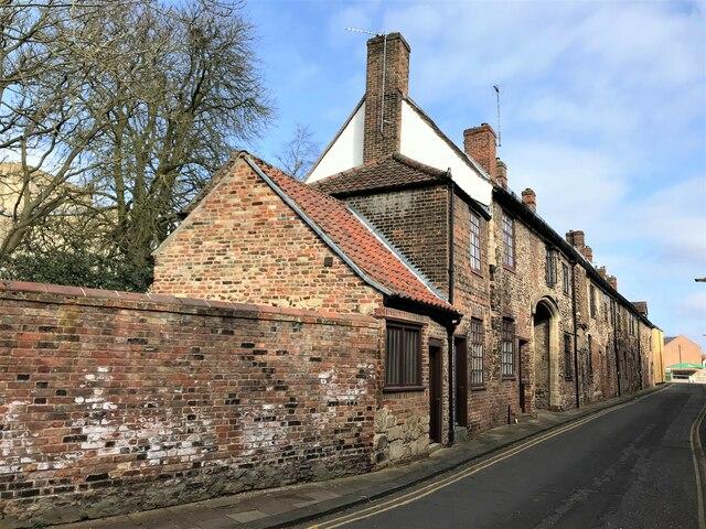 Historic houses on Priory Lane in King's Lynn