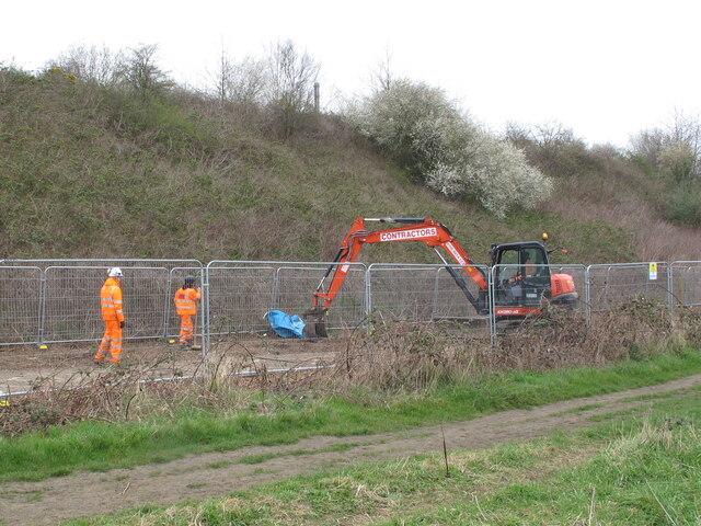 HS2 sewer diversion work, Old Oak Common