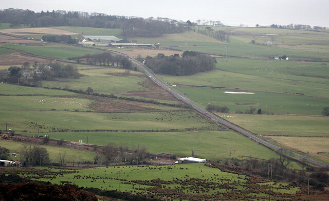 The A78 road south of Hunterston