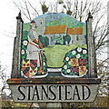 TL8449 : Stanstead village sign (north face) by Adrian S Pye