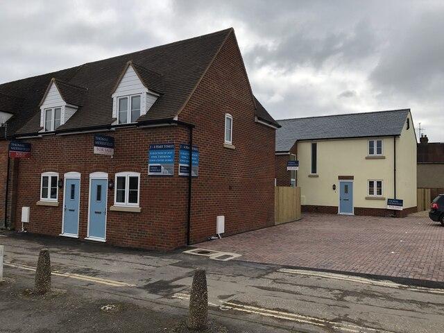 New houses along Hart Street
