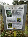 SP8901 : 2. Log Pile Habitat Notice at Boug's Meadow by David Hillas