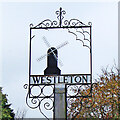 TM4469 : Westleton village sign by Adrian S Pye