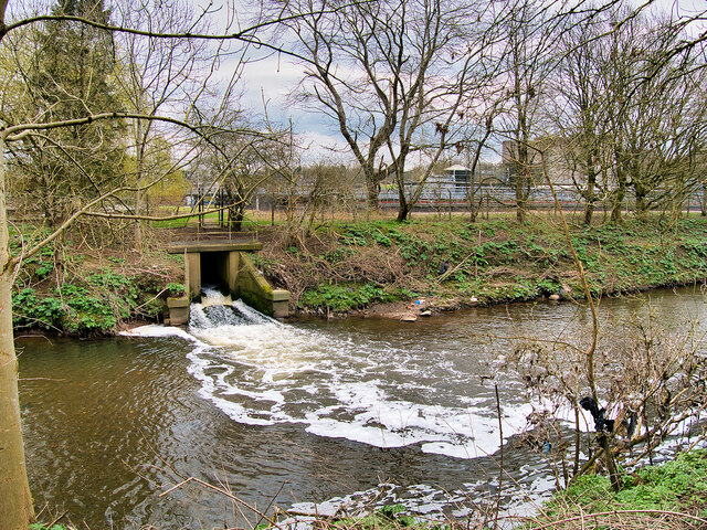 River Irwell passing the Sewage Works