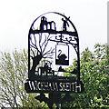TM0969 : Wickham Skeith village sign by Adrian S Pye