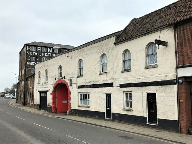 Historic architecture on Nene Quay in Wisbech