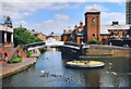 SP0586 : Canal Roundabout, Old Turn Junction by Des Blenkinsopp