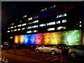 ST3187 : Rainbow floodlights, Royal Gwent Hospital by Robin Drayton