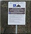 SJ8990 : Bridgefield Street Car Park notice by Gerald England