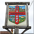 TL7174 : Mildenhall town sign by Adrian S Pye