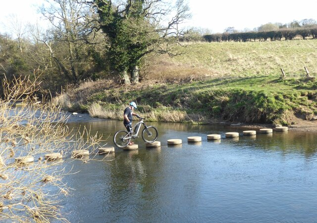 Stepping stones over the River Aln
