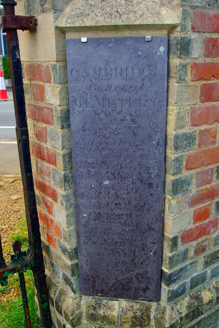 Notice at Histon Road Cemetery