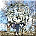 TL7190 : Feltwell village sign by Adrian S Pye