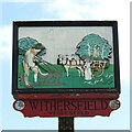 TL6547 : Withersfield village sign by Adrian S Pye