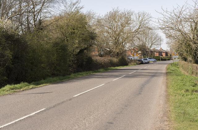 Entering Washingborough on Fen Road