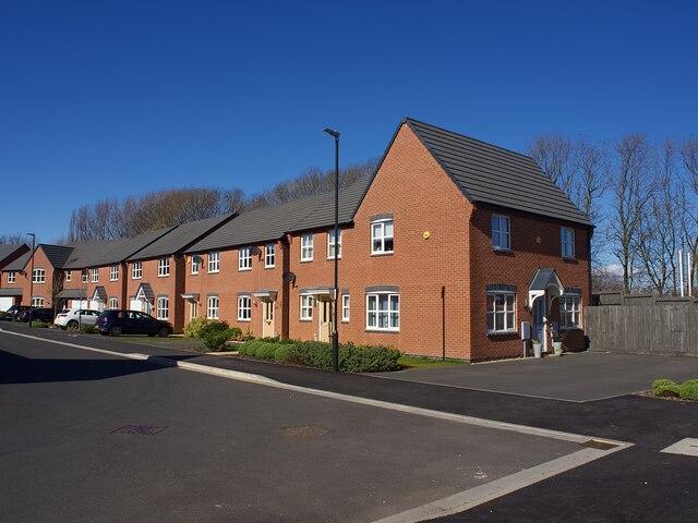 New housing on Hunloke Estate