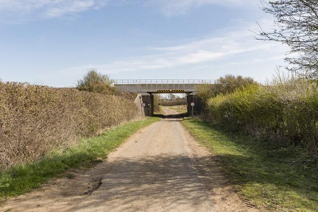 Railway bridge over Potterhanworth Road