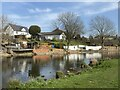 SK5816 : River Soar and riverside properties by John H Darch