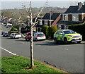 ST3090 : Yellow and green ambulance, Rowan Way, Malpas, Newport by Jaggery