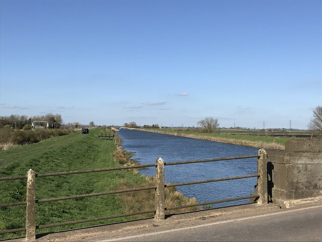 The starting line for the 2021 University Boat race on April 4th near Ely, Cambridgeshire