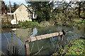 SP1403 : Old Sluice Gear on the Mill Stream by Des Blenkinsopp