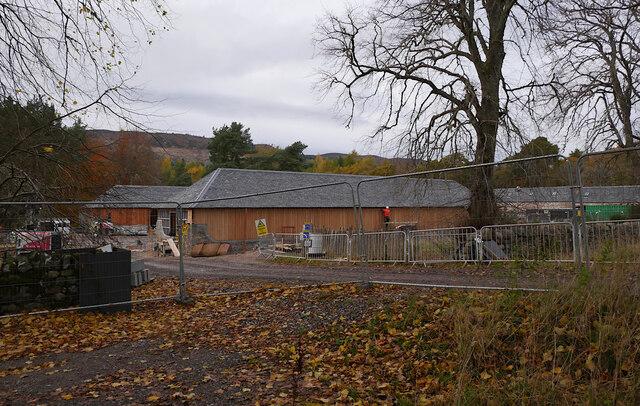 Aldourie Farm construction