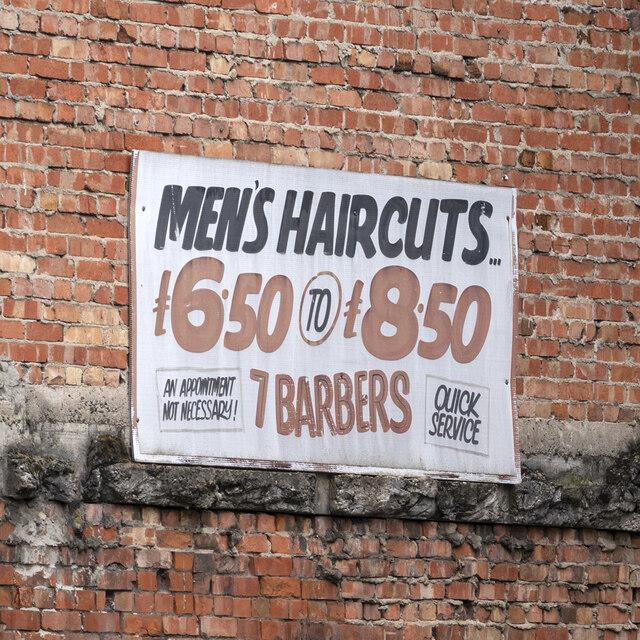 Haircut sign, Belfast