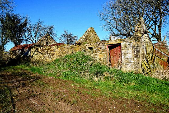 Ruined farm buildings, Aghingowly