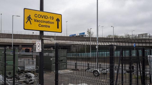 Covid sign, Belfast