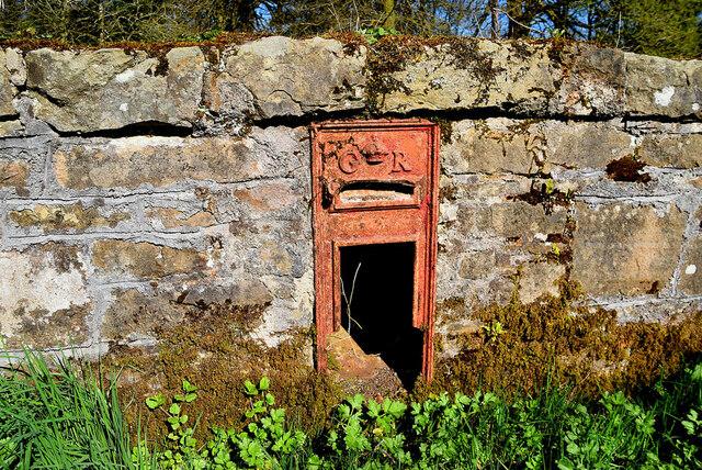Derelict post box, Ballyness