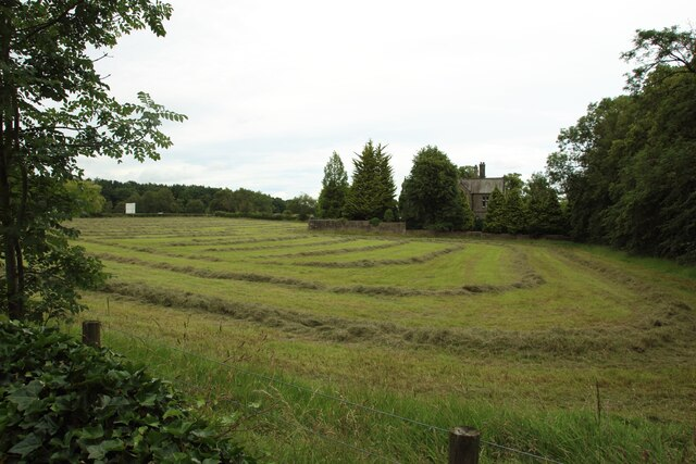 Mown grass field at Beckwithshaw