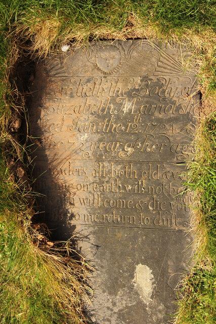 Belvoir Angel - Elizabeth Marriot 1724