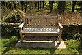 SK7642 : Ethel Gordon Fenwick bench by Richard Croft