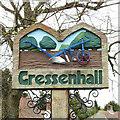 TF9616 : Gressenhall village sign by Adrian S Pye