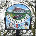 TF9415 : Longham village sign by Adrian S Pye