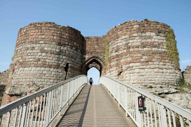 The Inner Gatehouse at Beeston Castle