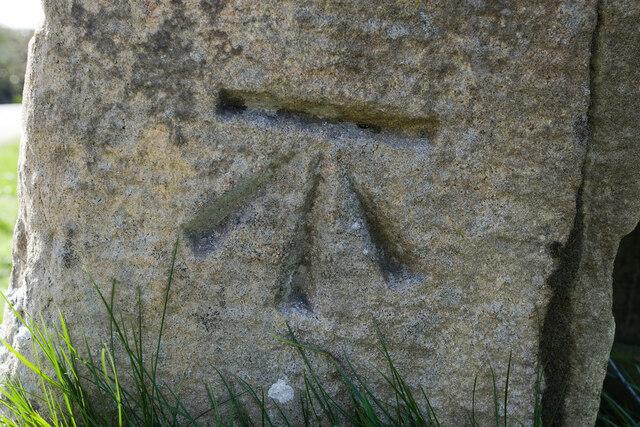 Cut Bench Mark, High Jervaulx Gatepost