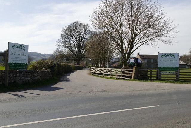 Entrance to High Jervaulx Farm and Brymor Ice Cream Parlour