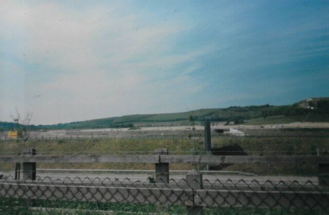 Channel Tunnel terminal under construction