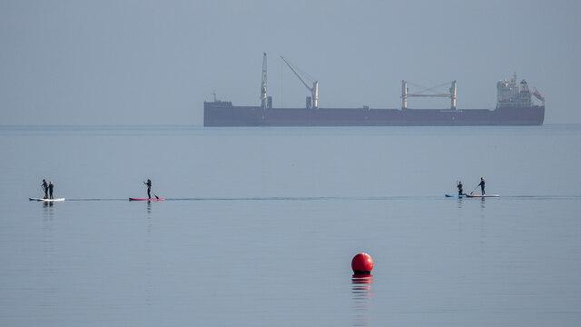 Paddle boarders, Bangor