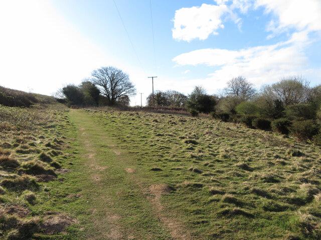 Footpath near Ton Mawr Quarry