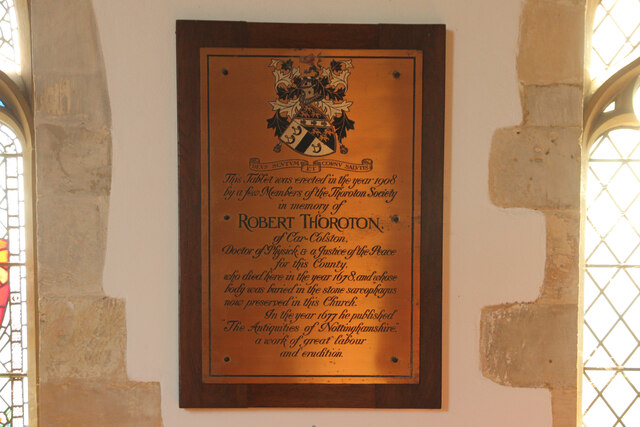 Robert Thoroton plaque