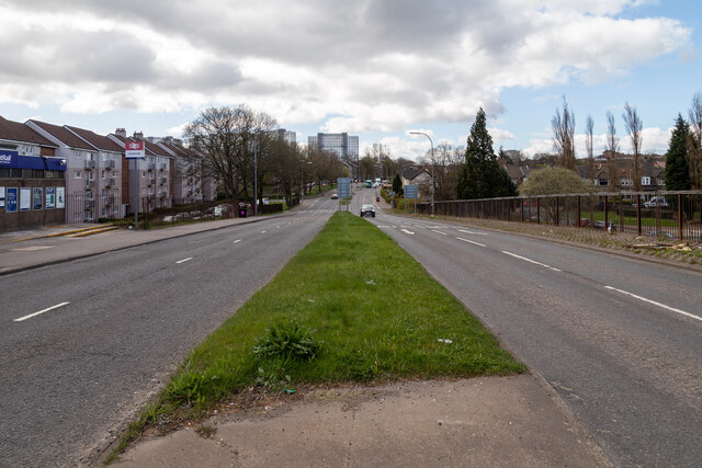 South View of Berryknowes Road From Outside Cardonald Railway Station
