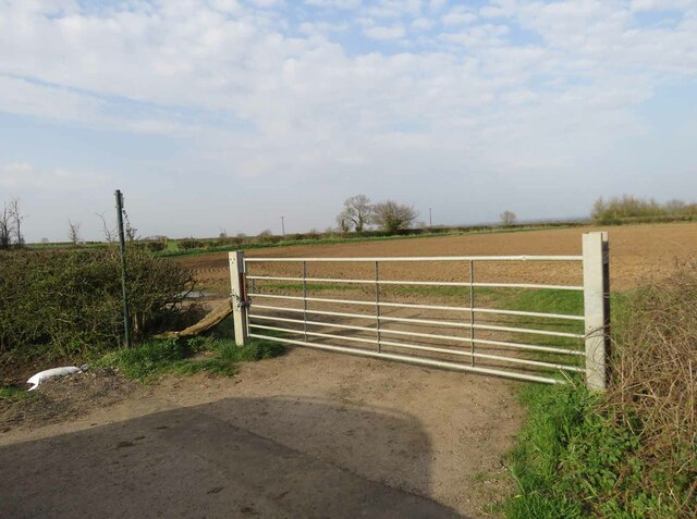Entrance to field east of Gilmorton Road from south by Andrew Tatlow